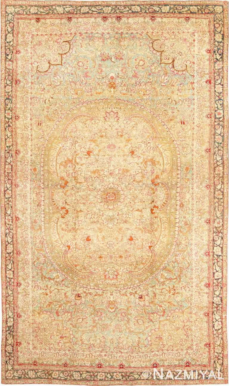 Rare and Breathtaking Large Antique Indian Agra Rug 48942 Nazmiyal