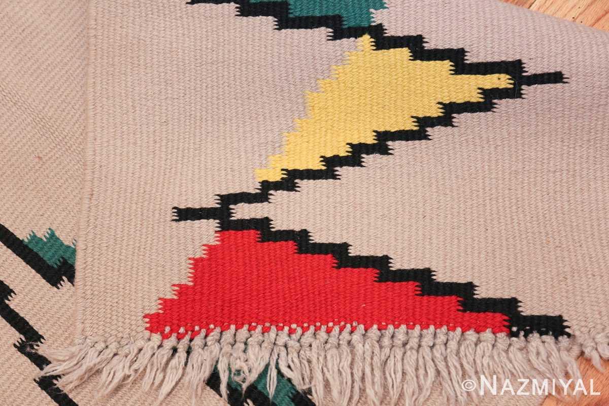 Small Antonin Kybal Vintage Kilim French Rug 48894 Woven Knots Nazmiyal