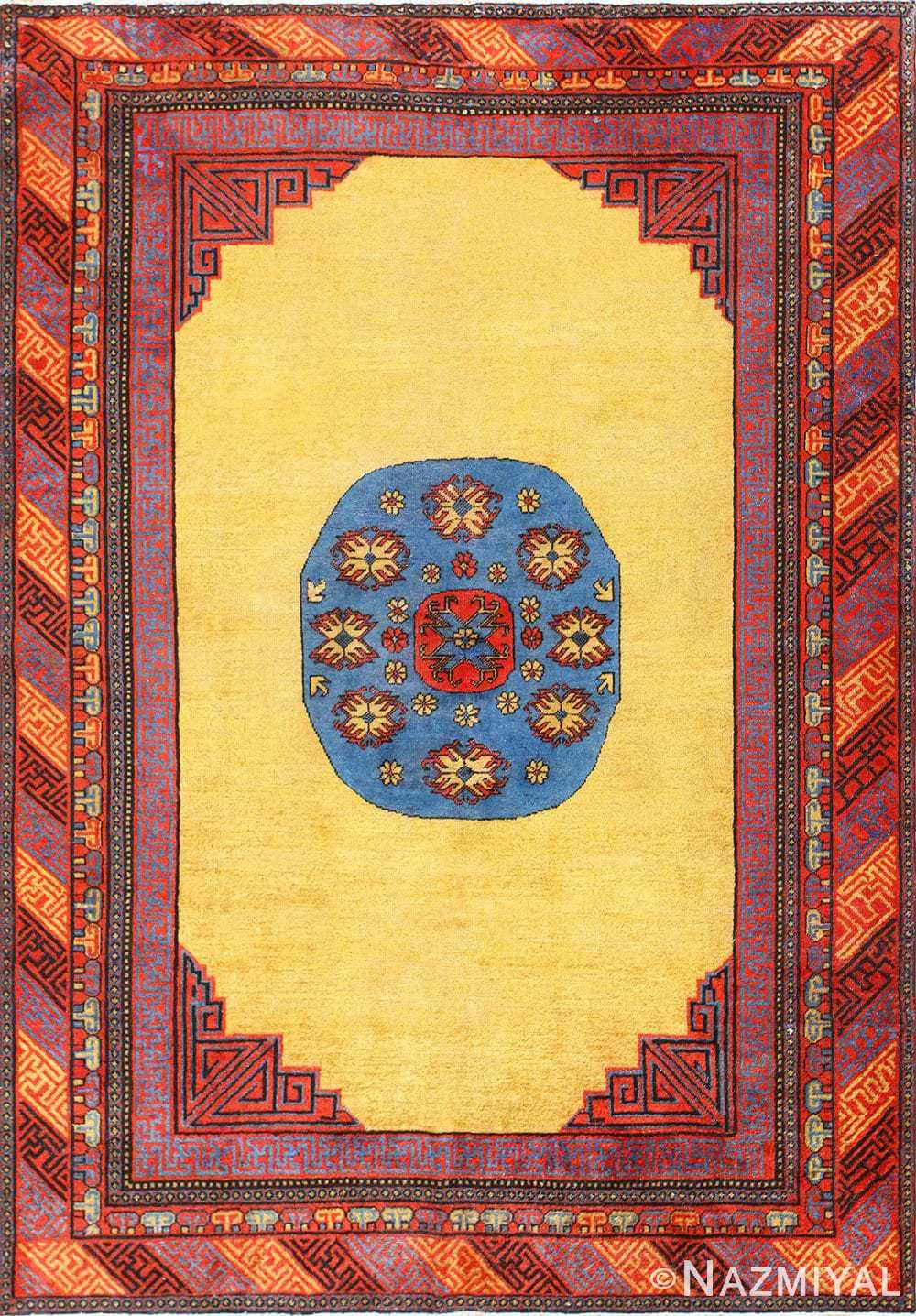 Small Funky and Tribal Antique Khotan Rug 48784 Nazmiyal