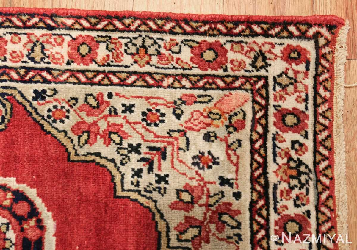 small mat size antique persian kerman floral rug 50688 corner Nazmiyal