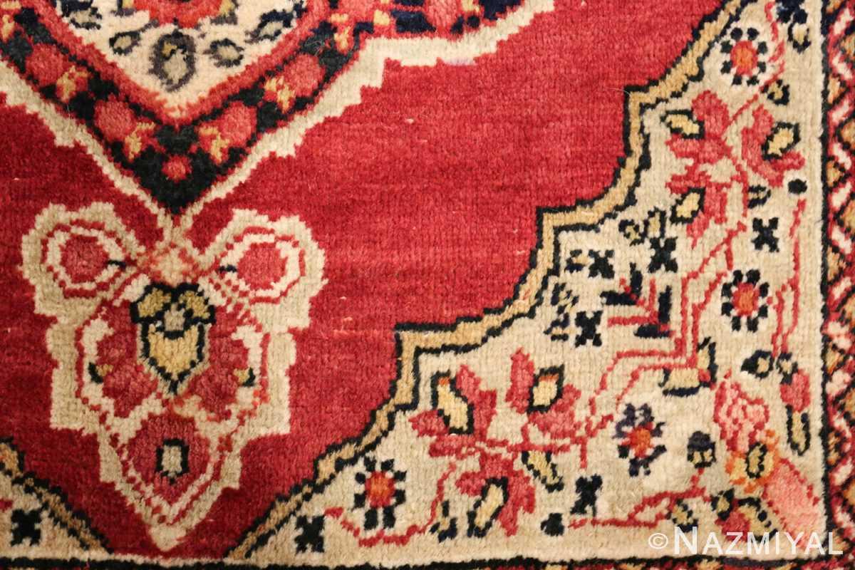 small mat size antique persian kerman floral rug 50688 design Nazmiyal