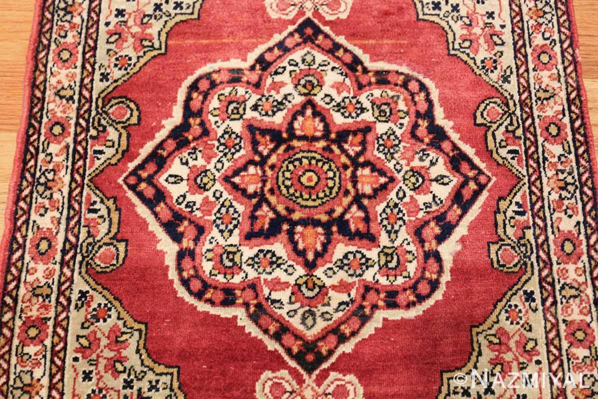 small mat size antique persian kerman floral rug 50688 medallion Nazmiyal