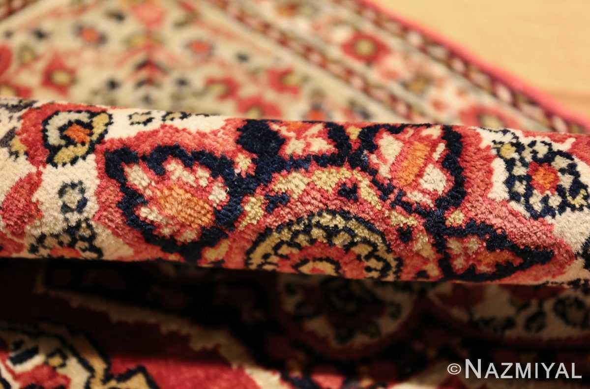 small mat size antique persian kerman floral rug 50688 pile Nazmiyal
