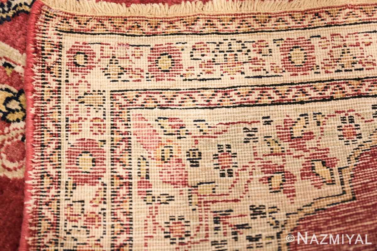 small mat size antique persian kerman floral rug 50688 weave Nazmiyal