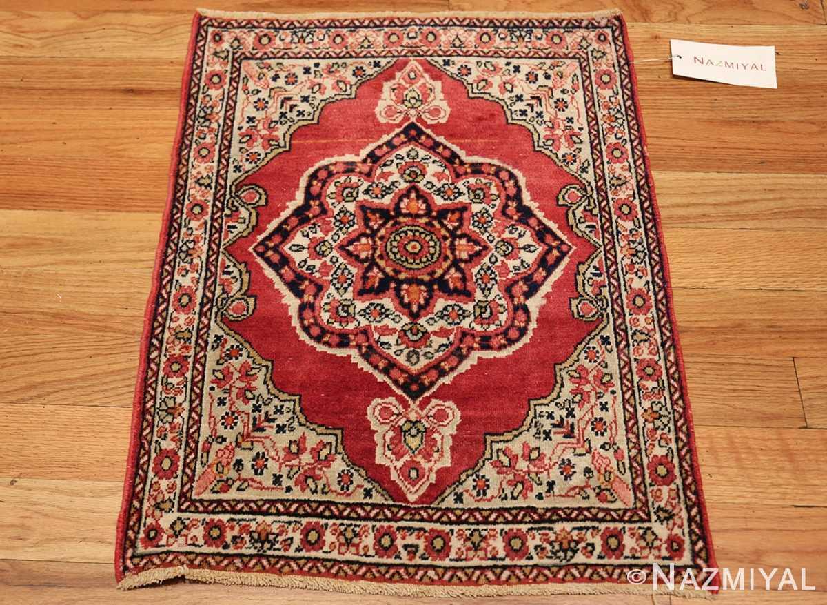 small mat size antique persian kerman floral rug 50688 whole Nazmiyal