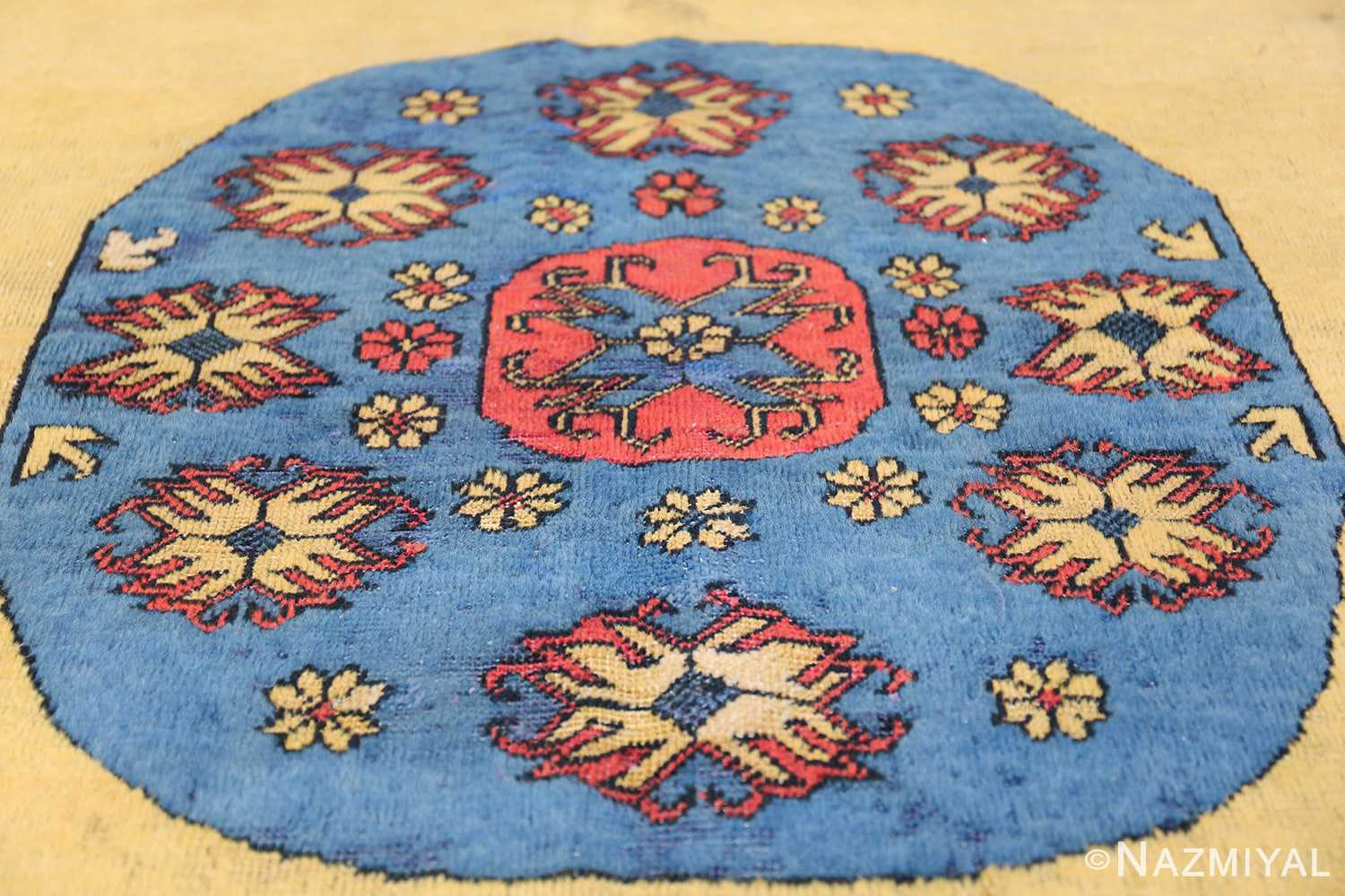 Small Room Size Funky and Tribal Antique Khotan Rug 48784 Central Medallion Nazmiyal