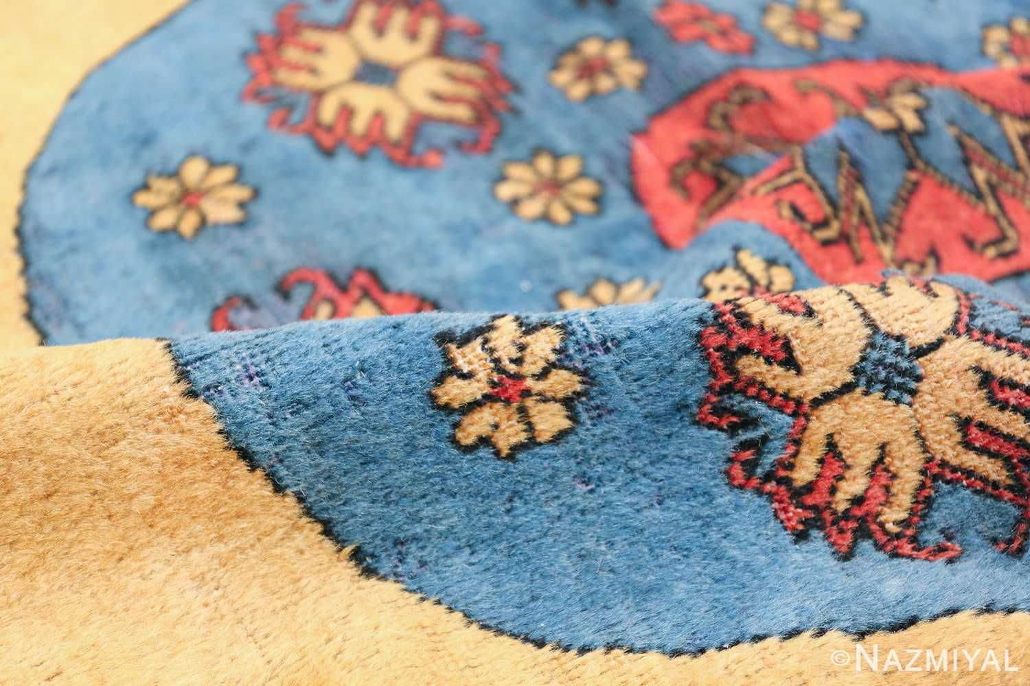 Small Room Size Funky and Tribal Antique Khotan Rug 48784 Colorful Pile Nazmiyal