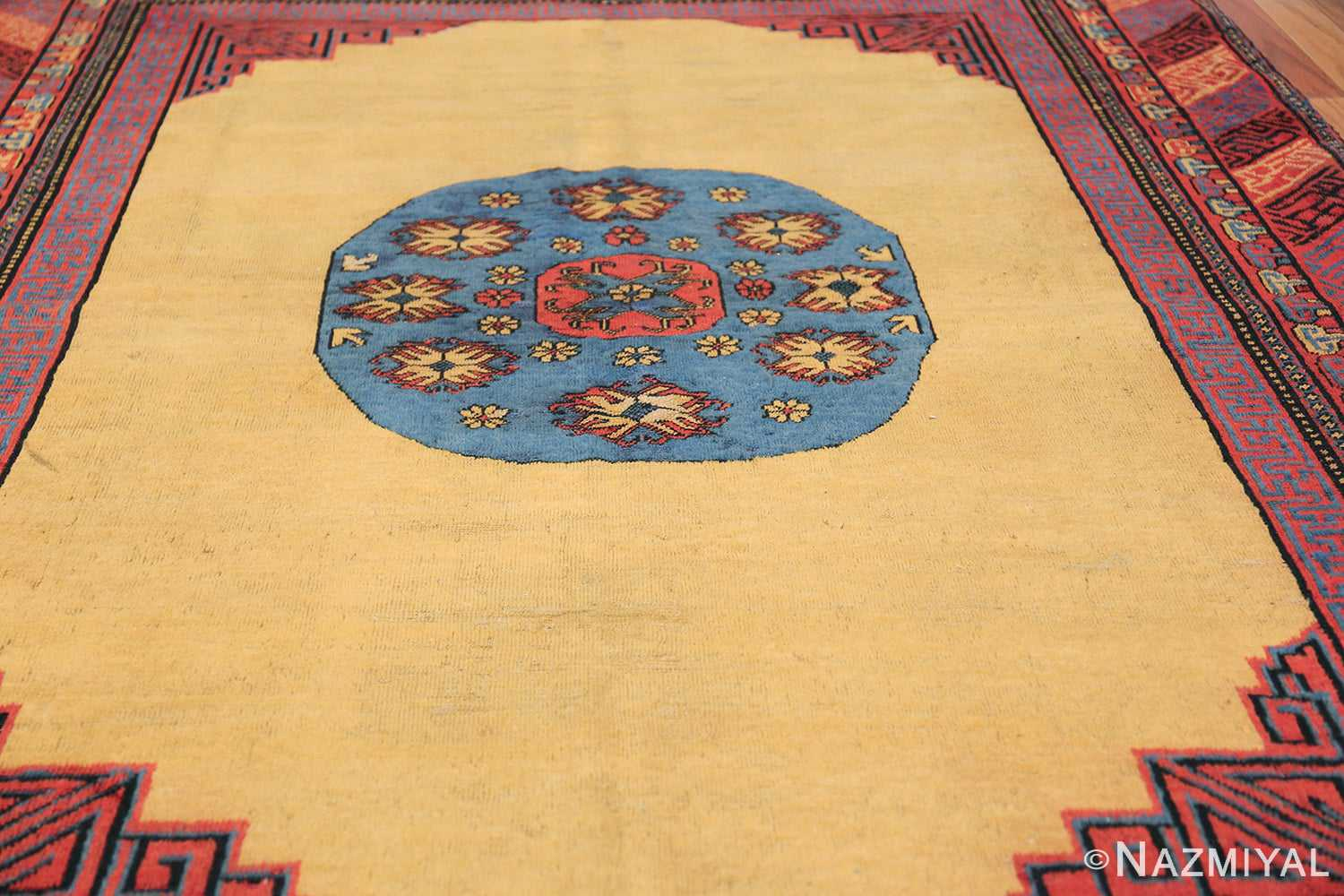 Small Room Size Funky and Tribal Antique Khotan Rug 48784 Field Design Nazmiyal