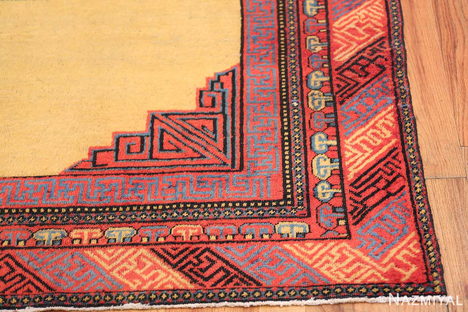 Small Room Size Funky and Tribal Antique Khotan Rug 48784 Side Corner Nazmiyal