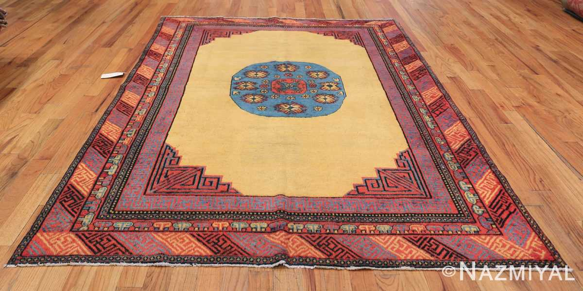 Small Room Size Funky and Tribal Antique Khotan Rug 48784 Whole Design Nazmiyal
