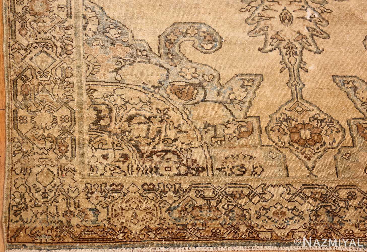 small tribal antique shabby chic persian malayer rug 50634 corner Nazmiyal