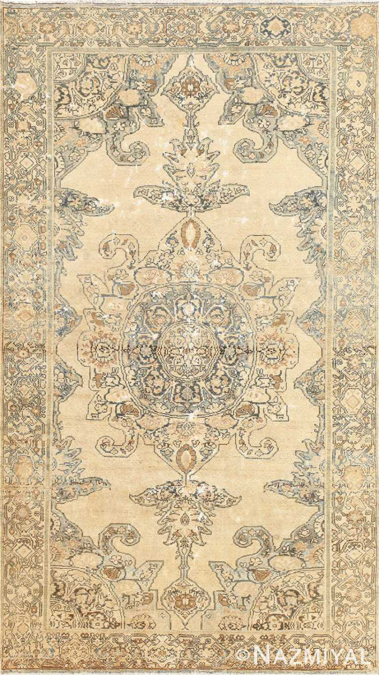 Small Tribal Antique Shabby Chic Persian Malayer Rug 50634 Nazmiyal