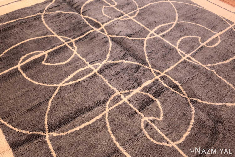 square size mid century pierre cardin vintage rug 48877 darkside Nazmiyal
