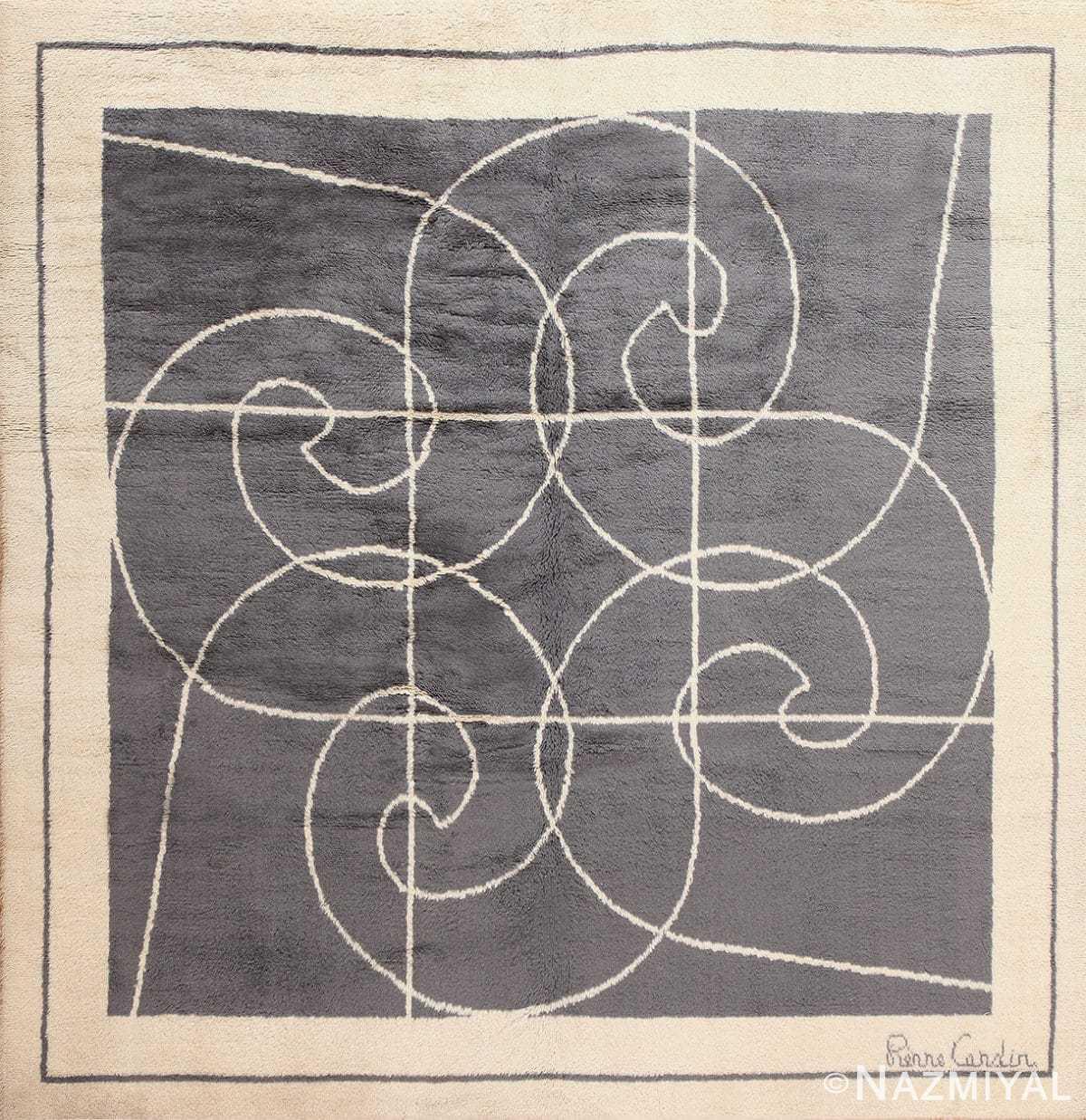 Square Size Mid Century Pierre Cardin Vintage Rug 48877 Nazmiyal