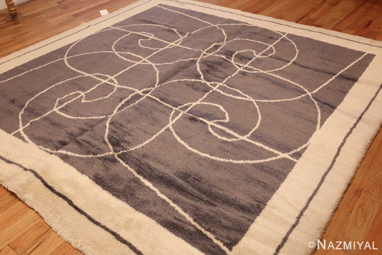 square size mid century pierre cardin vintage rug 48877 lightside Nazmiyal