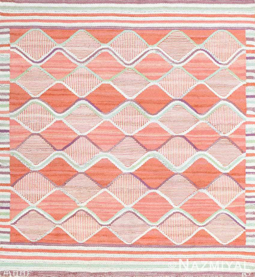 Square Size Vintage Scandinavian Rug by Marta Maas 48896 Nazmiyal