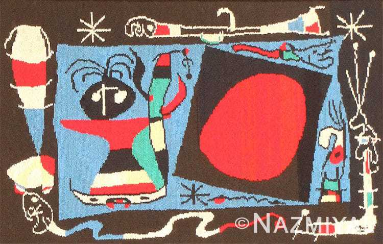 Textile Art Tapestry by Artist Joan Miro 48946 Nazmiyal