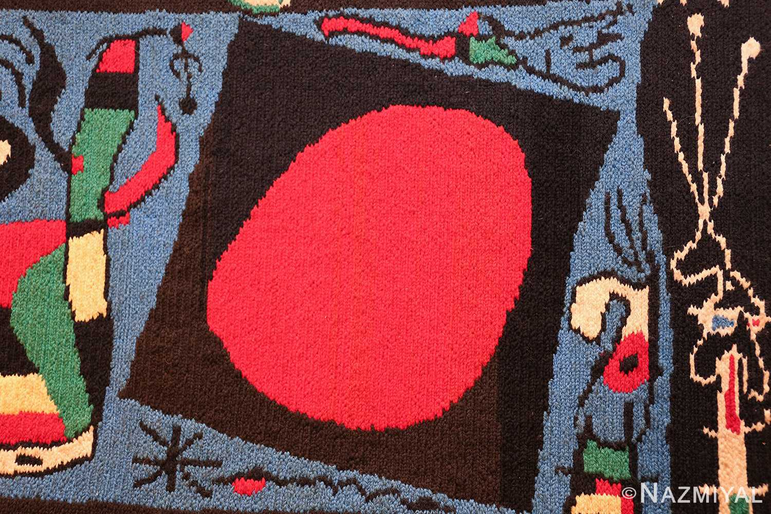 textile art tapestry by artist joan miro 48946 round Nazmiyal
