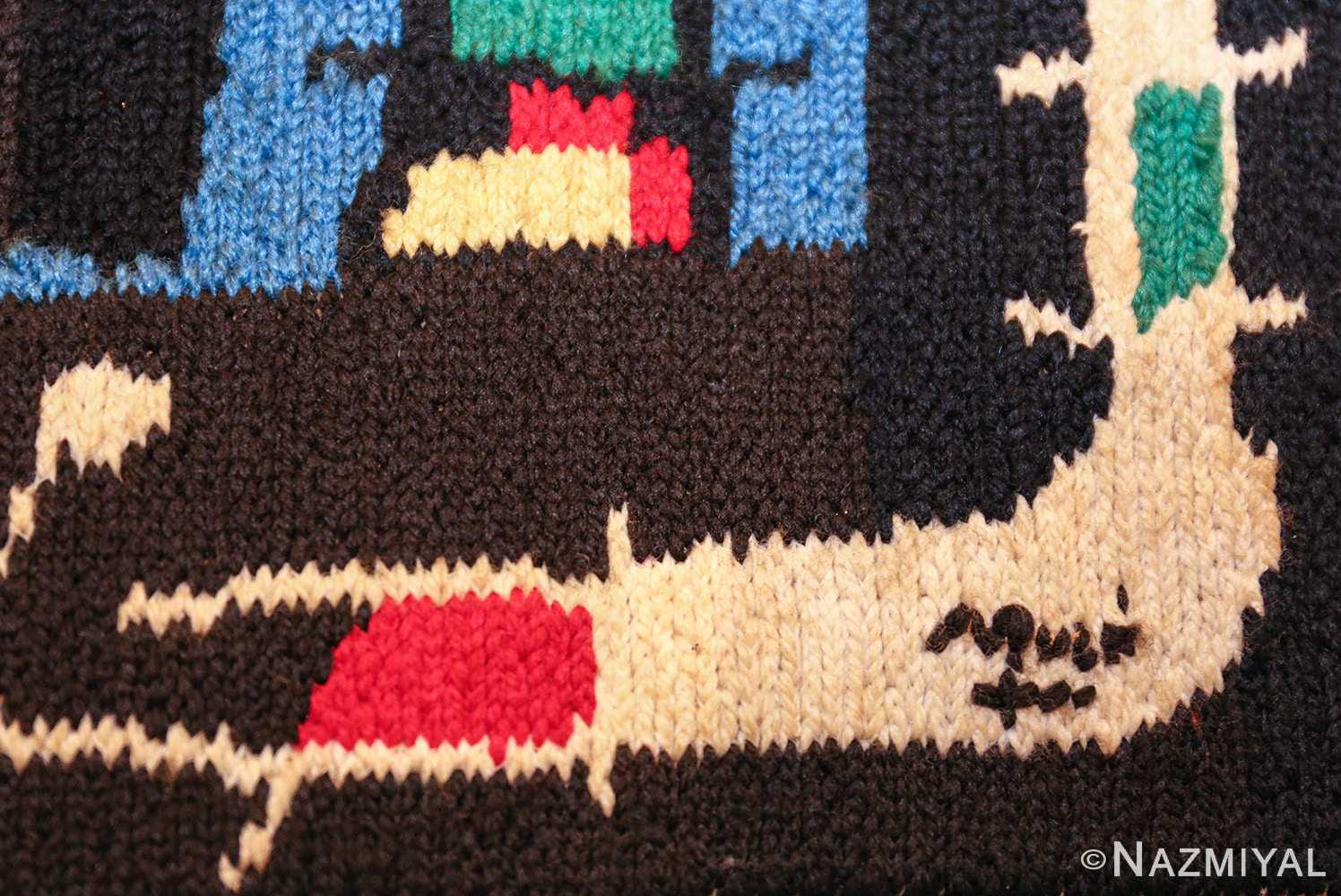 textile art tapestry by artist joan miro 48946 signature Nazmiyal