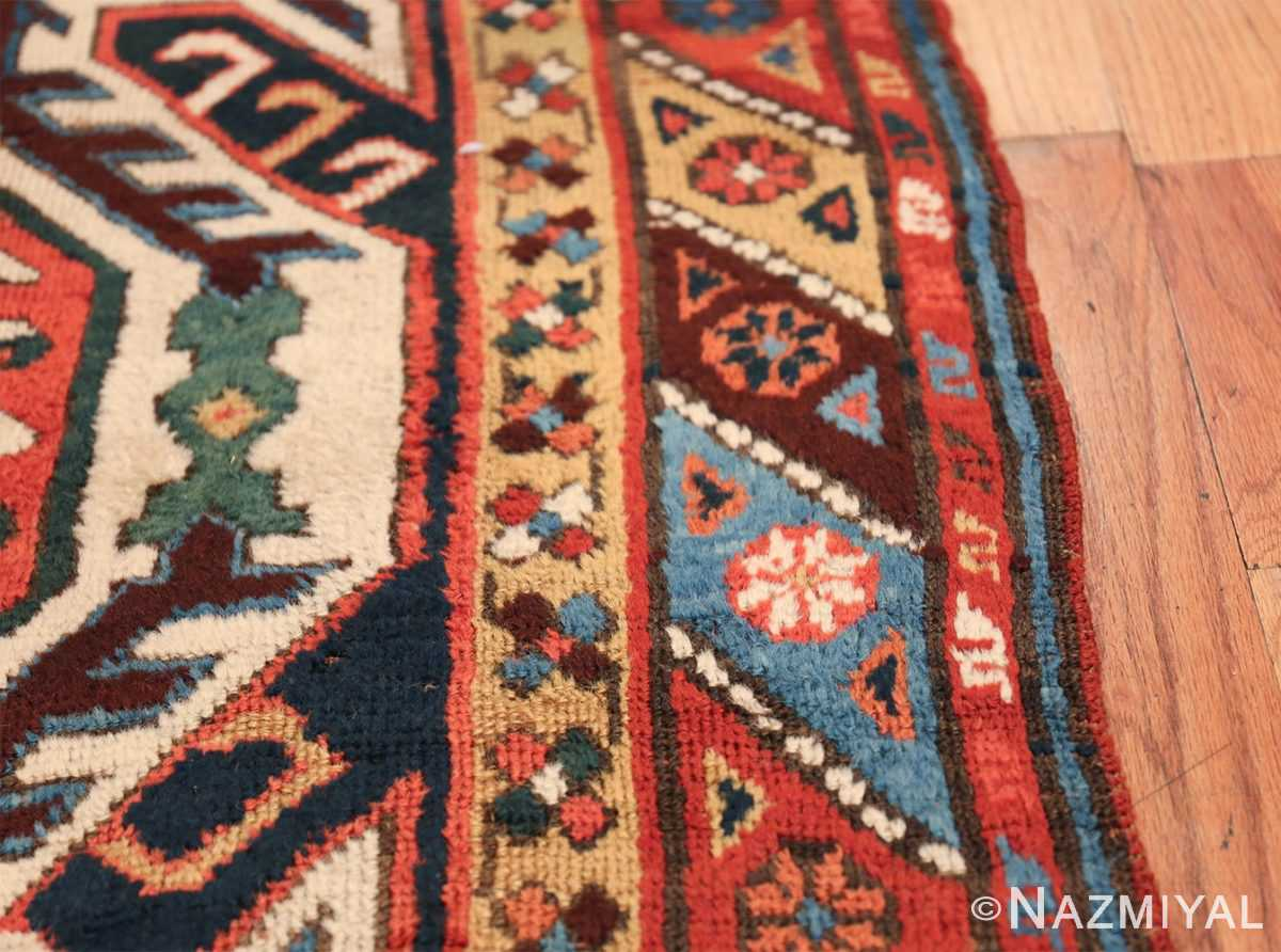 Tribal Antique Caucasian Lankoran Runner Rug 48929 Border Design Nazmiyal