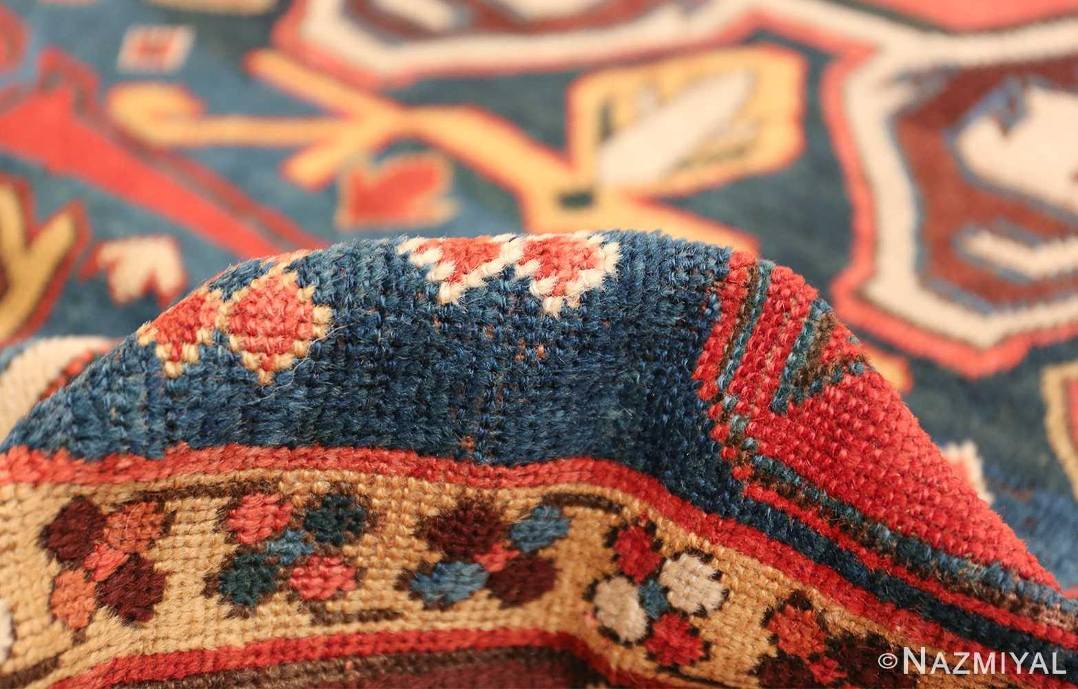 Tribal Antique Caucasian Lankoran Runner Rug 48929 Navy Pile Nazmiyal