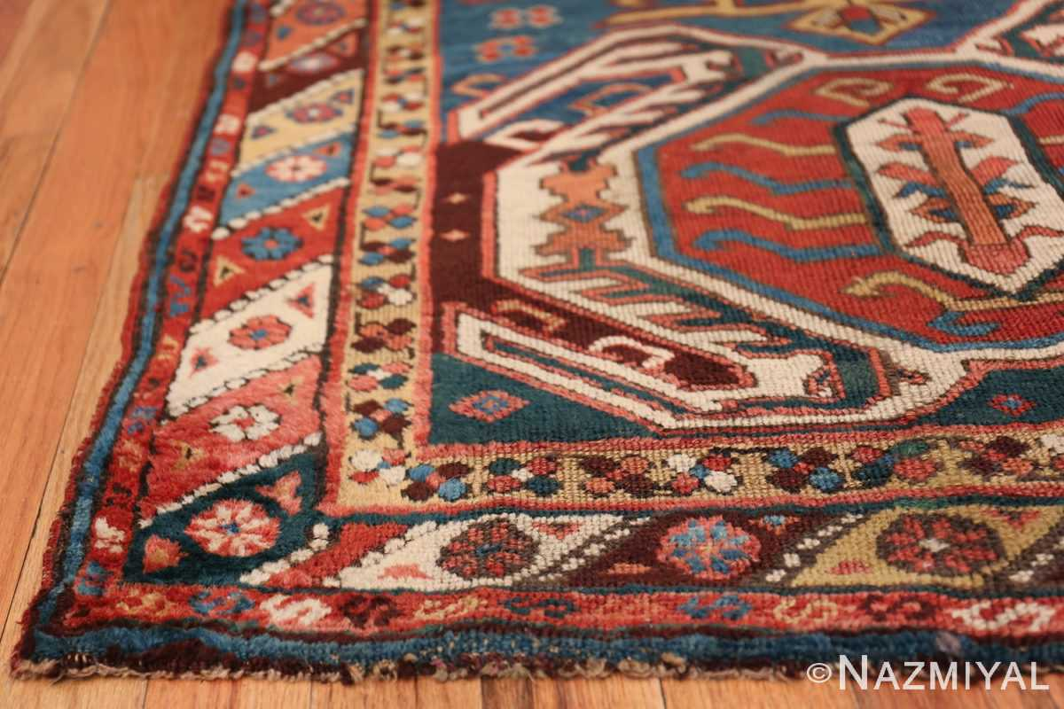 Tribal Antique Caucasian Lankoran Runner Rug 48929 Side Corner Nazmiyal
