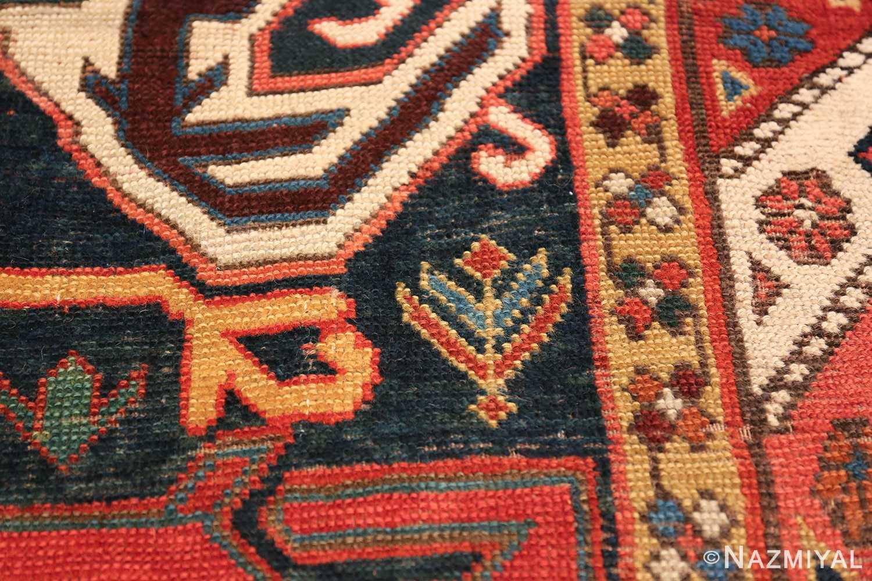 Tribal Antique Caucasian Lankoran Runner Rug 48929 Tiny Flower Nazmiyal
