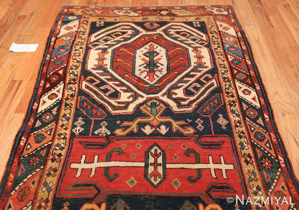 Tribal Antique Caucasian Lankoran Runner Rug 48929 Top Design Nazmiyal