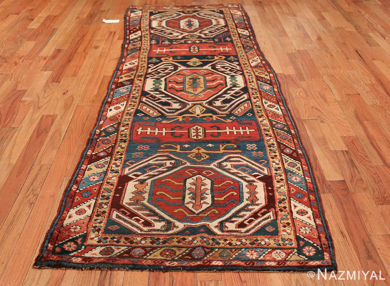 Tribal Antique Caucasian Lankoran Runner Rug 48929 Whole Design Nazmiyal
