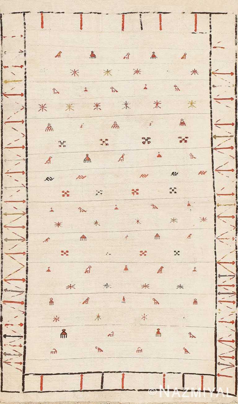 Tribal Antique Flat Woven Caucasian Shahsavan Kilim Rug 48933 Nazmiyal