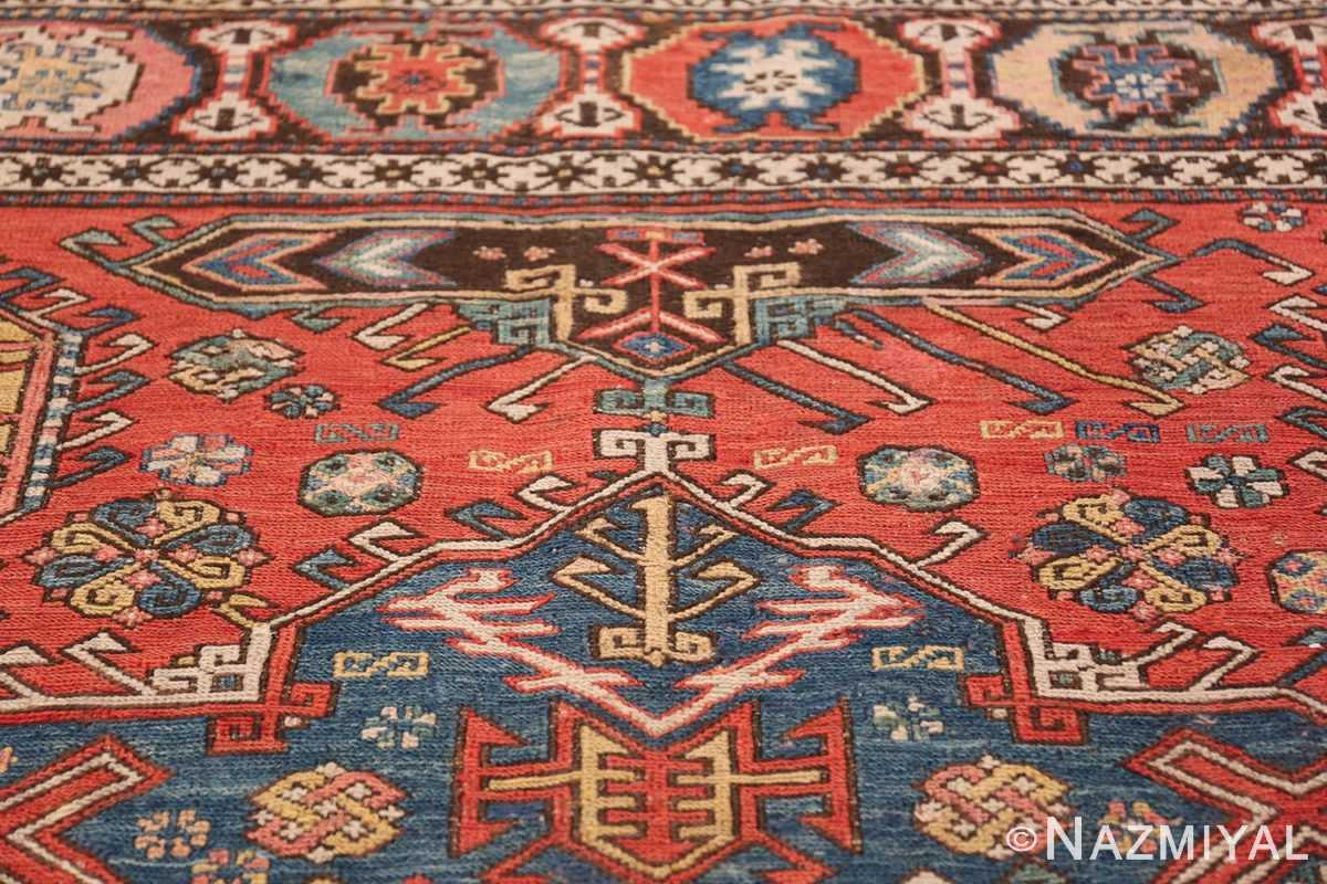 Tribal Antique Flat Woven Caucasian Soumak Rug 48054 Tribal Pattern Nazmiyal