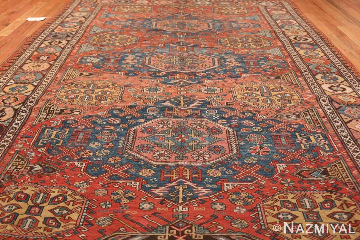 Tribal Antique Flat Woven Caucasian Soumak Rug 48054 Whole Design Nazmiyal