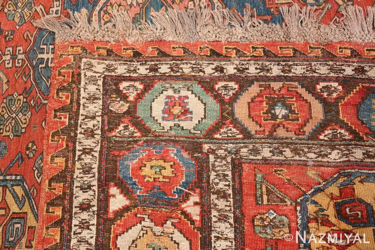 Tribal Antique Flat Woven Caucasian Soumak Rug 48054 Woven Knots Nazmiyal