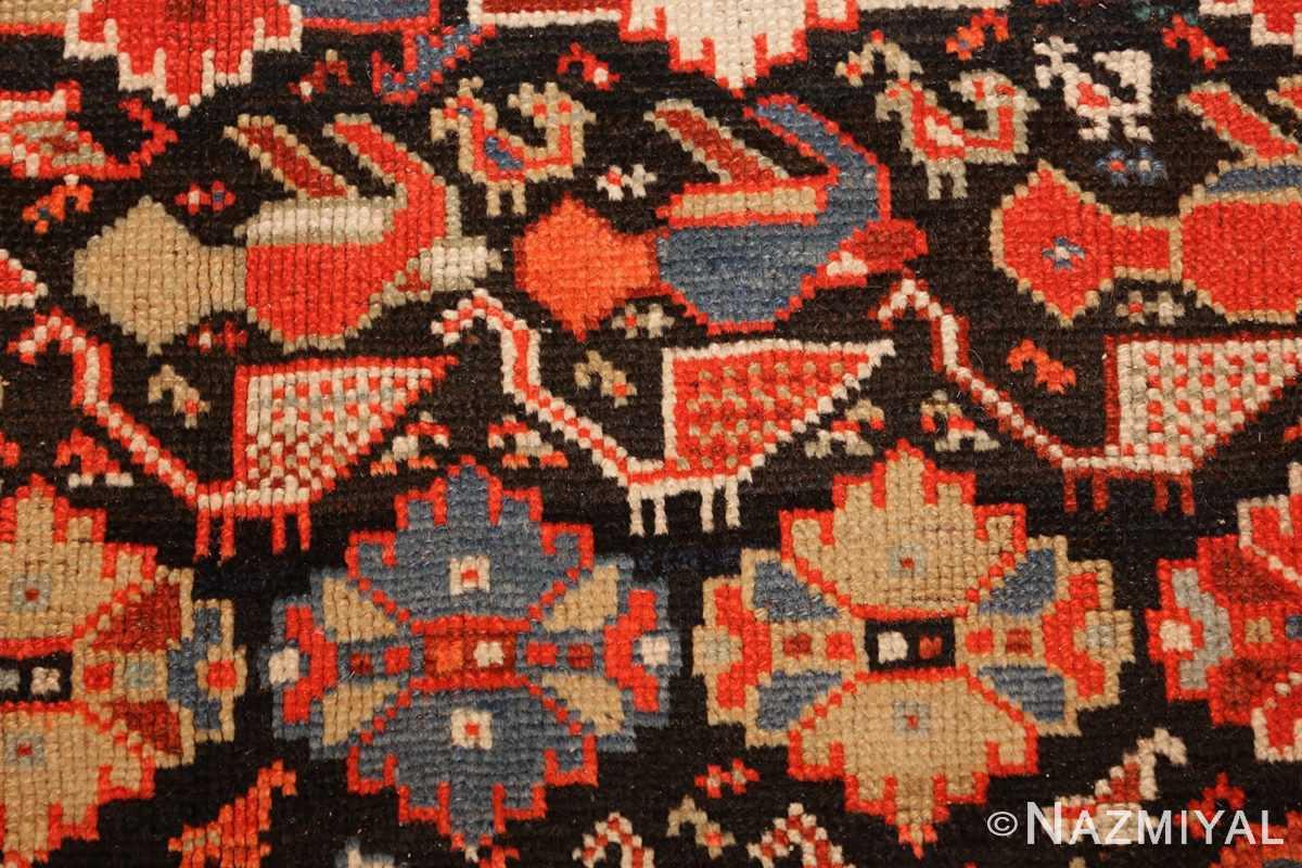 tribal antique qashqai persian gallery size rug 48881 birds Nazmiyal