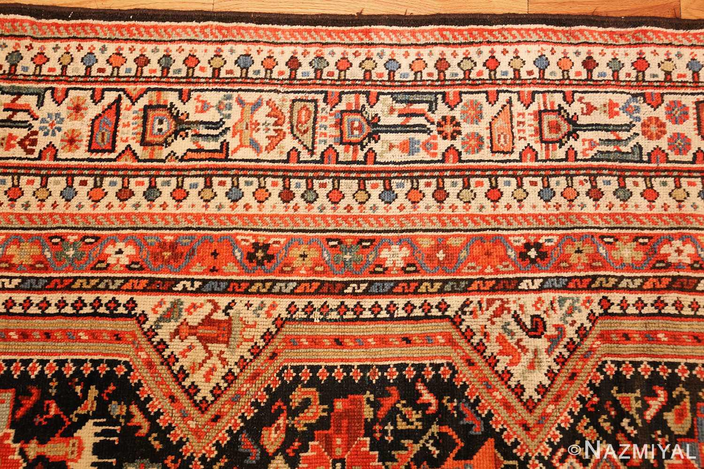 tribal antique qashqai persian gallery size rug 48881 border Nazmiyal