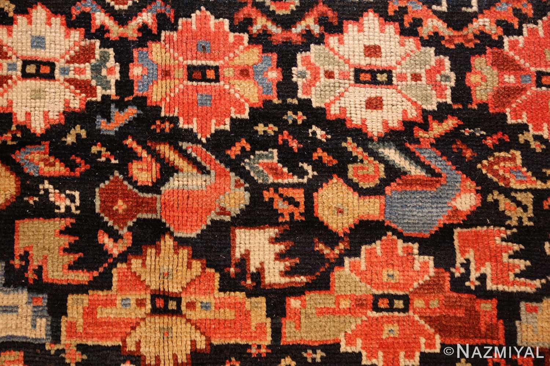 tribal antique qashqai persian gallery size rug 48881 chicken Nazmiyal