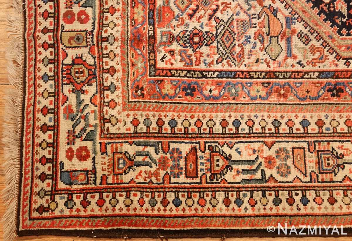 tribal antique qashqai persian gallery size rug 48881 corner Nazmiyal