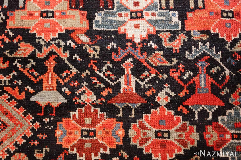 tribal antique qashqai persian gallery size rug 48881 dancers Nazmiyal