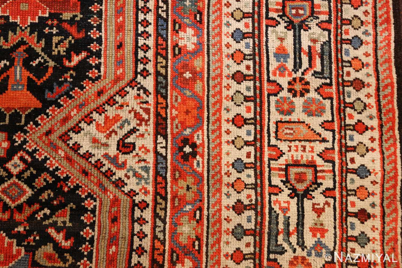 tribal antique qashqai persian gallery size rug 48881 design Nazmiyal