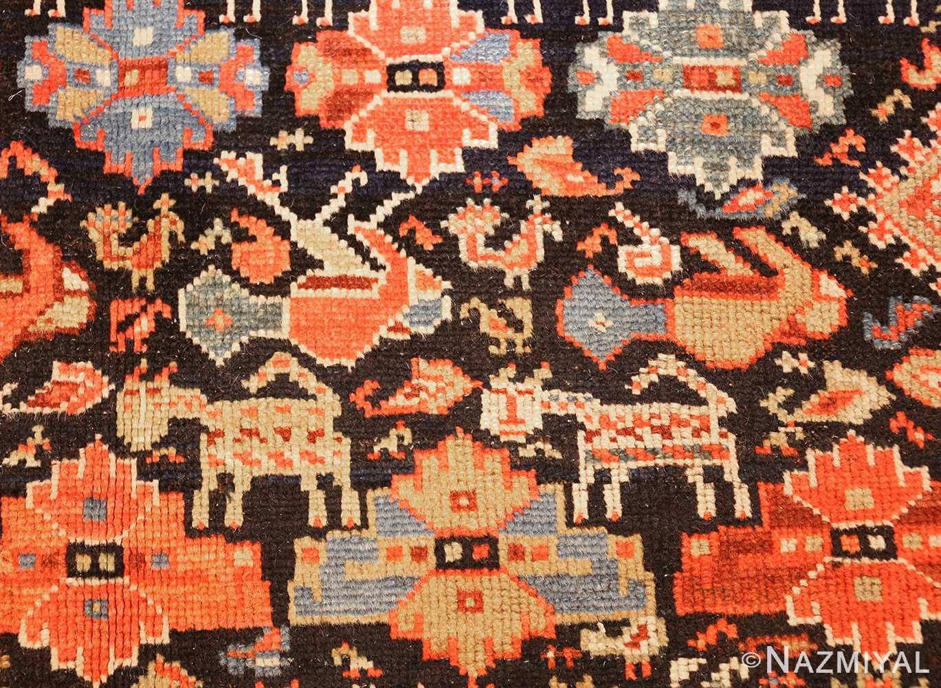 tribal antique qashqai persian gallery size rug 48881 dogs Nazmiyal