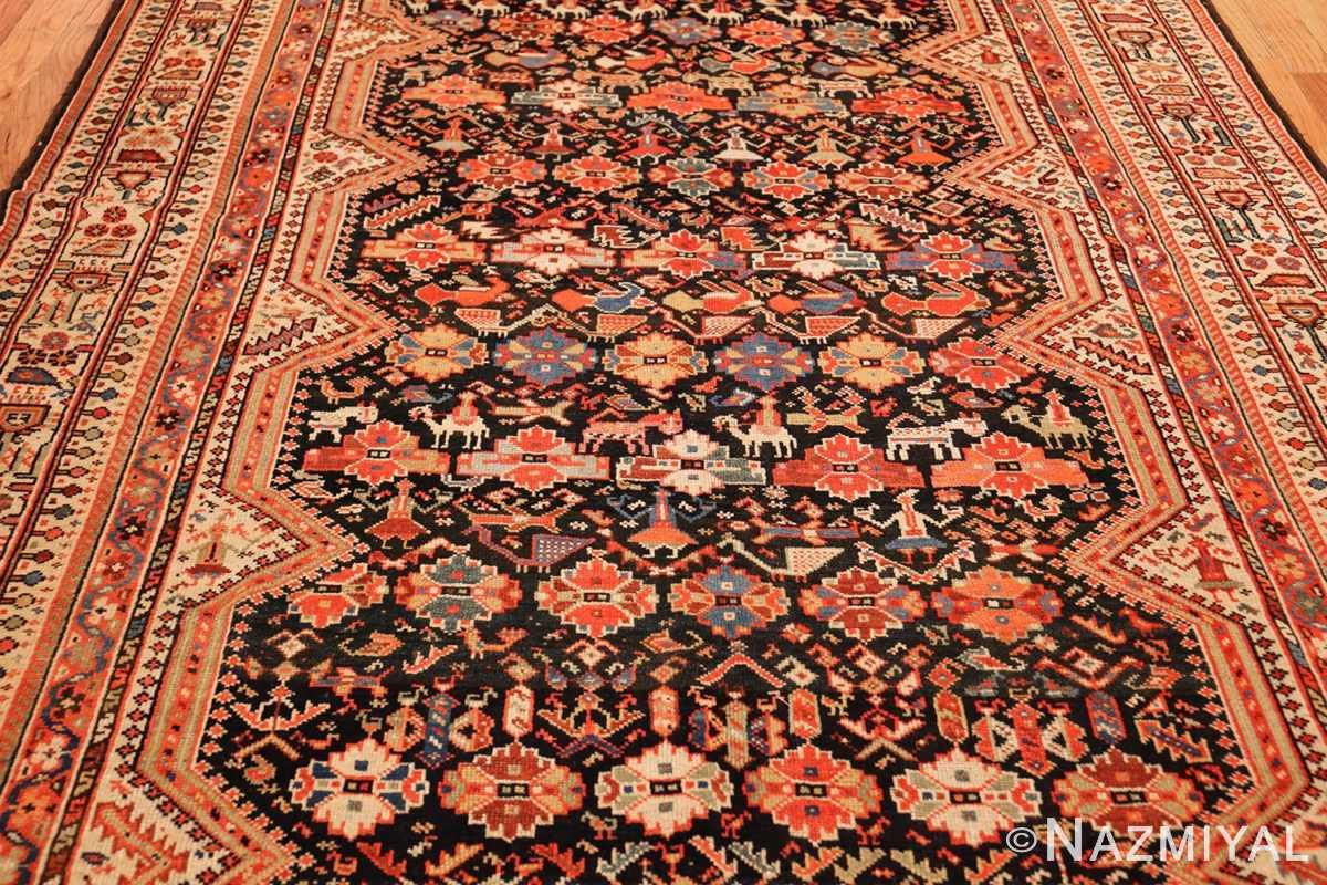 tribal antique qashqai persian gallery size rug 48881 field Nazmiyal