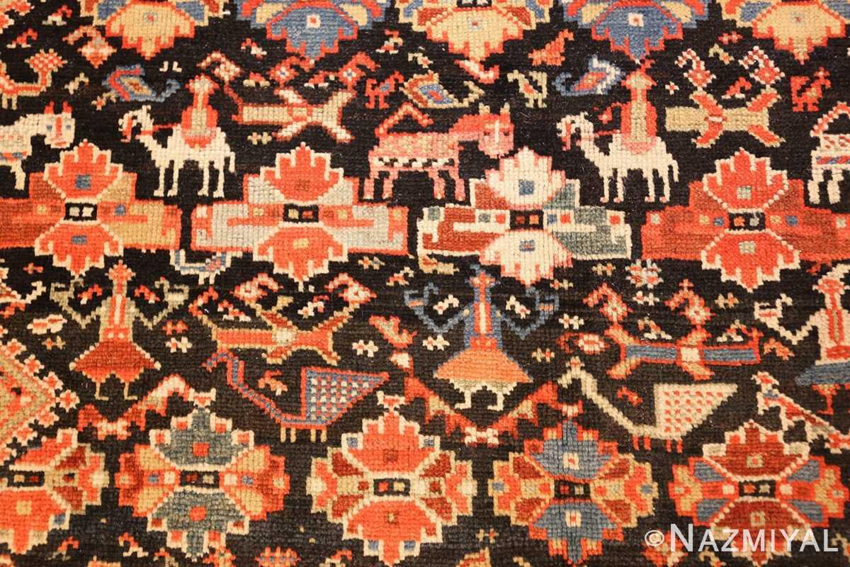 tribal antique qashqai persian gallery size rug 48881 man Nazmiyal