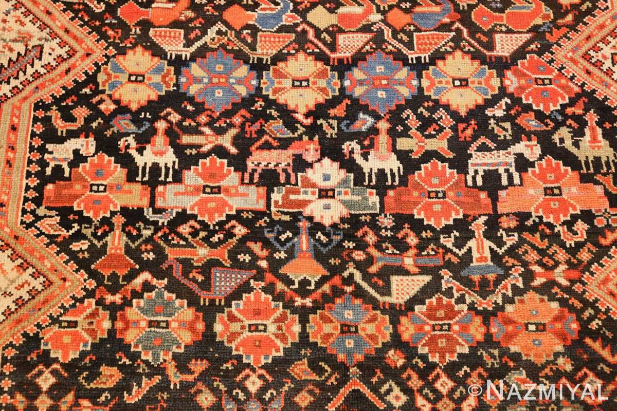 tribal antique qashqai persian gallery size rug 48881 middle Nazmiyal