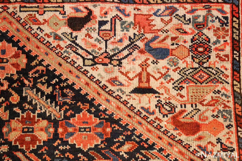 tribal antique qashqai persian gallery size rug 48881 part Nazmiyal