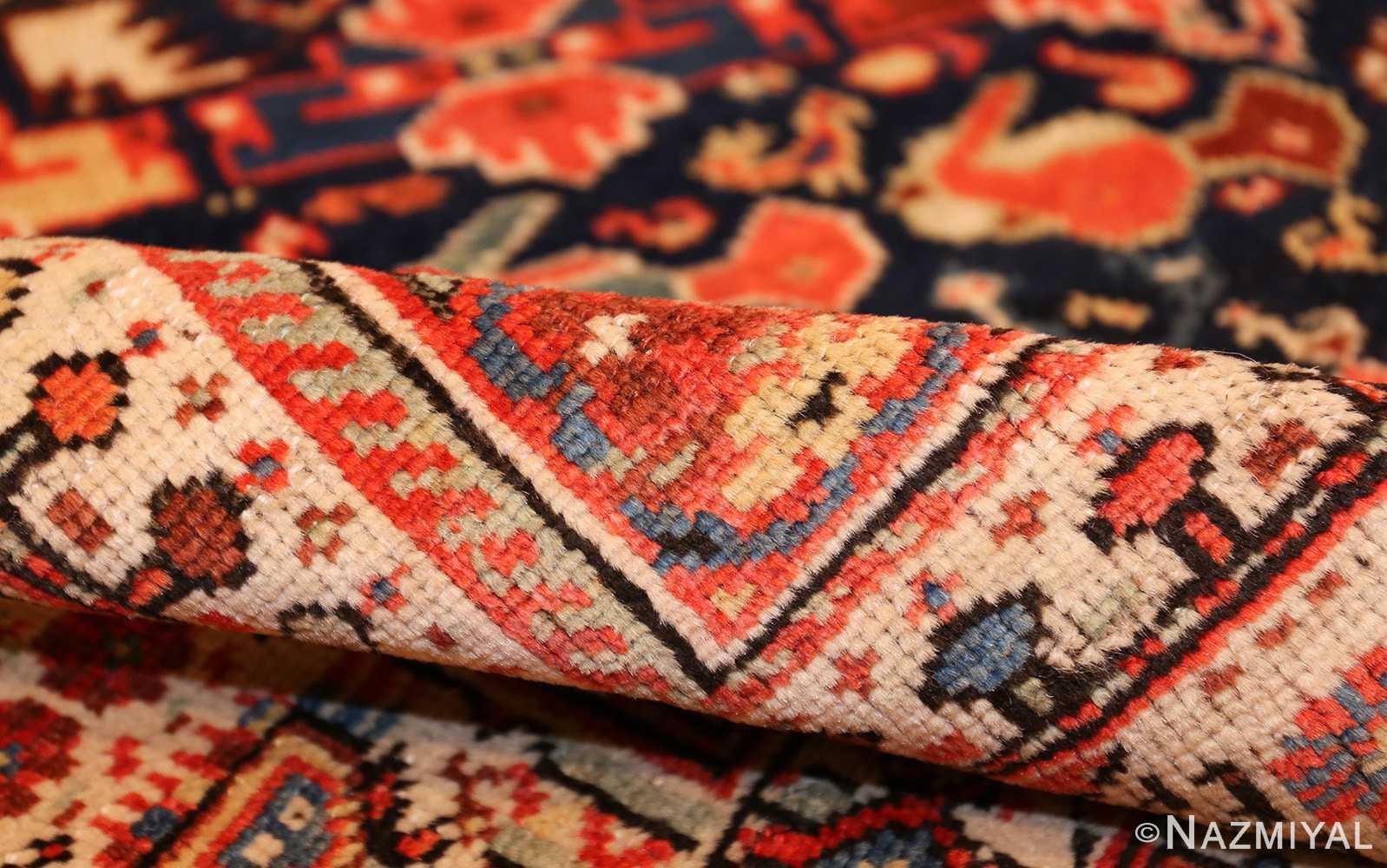 tribal antique qashqai persian gallery size rug 48881 pile Nazmiyal