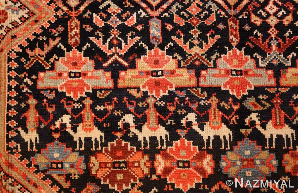 tribal antique qashqai persian gallery size rug 48881 riders Nazmiyal