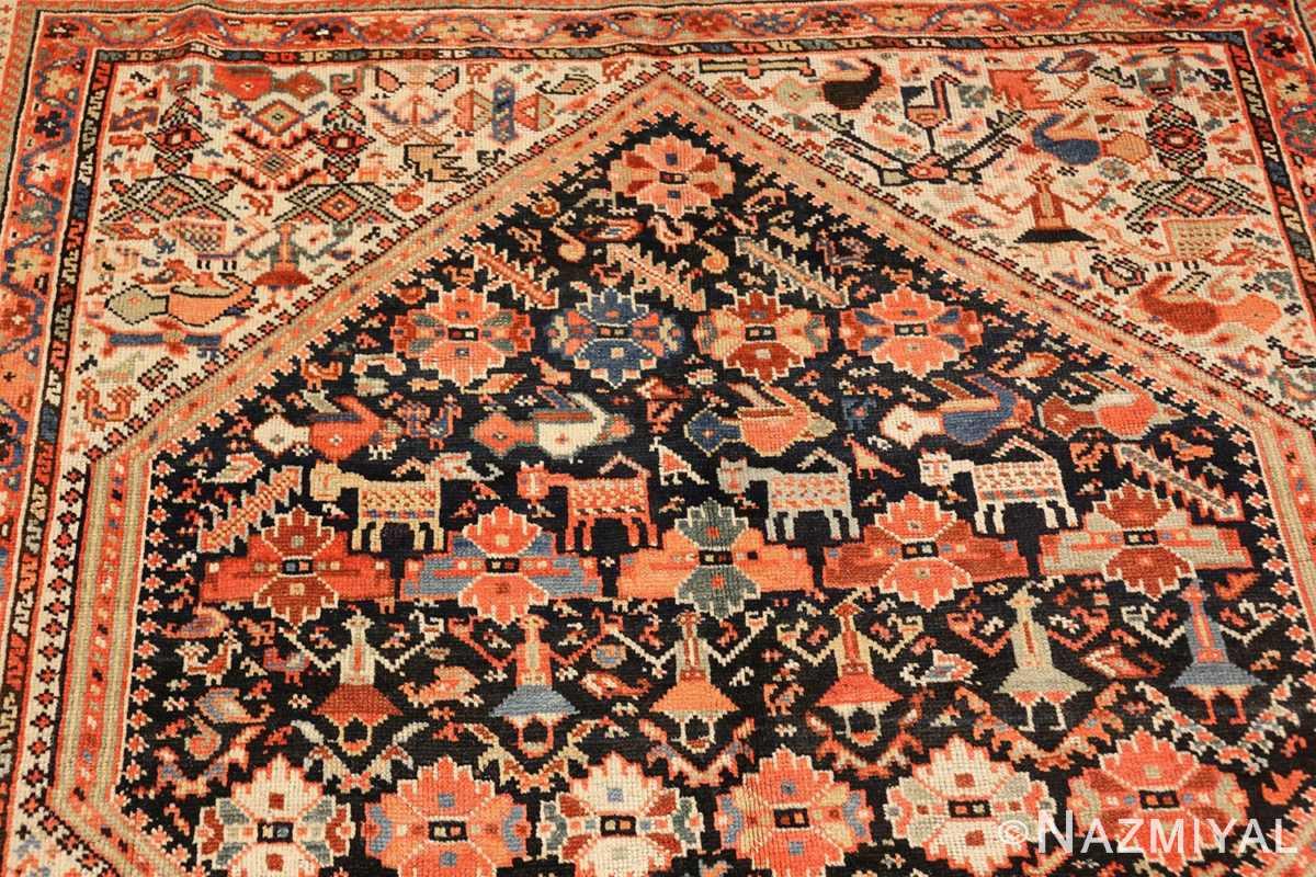 tribal antique qashqai persian gallery size rug 48881 top Nazmiyal