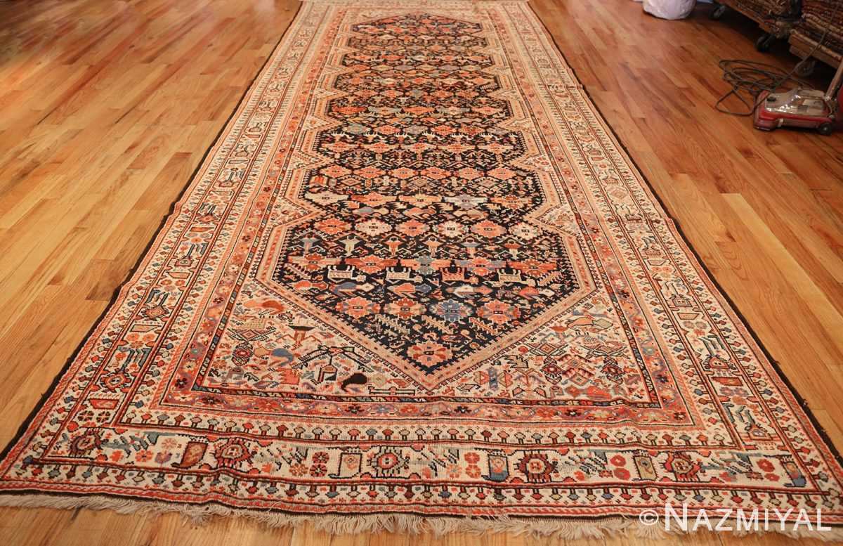 tribal antique qashqai persian gallery size rug 48881 whole Nazmiyal