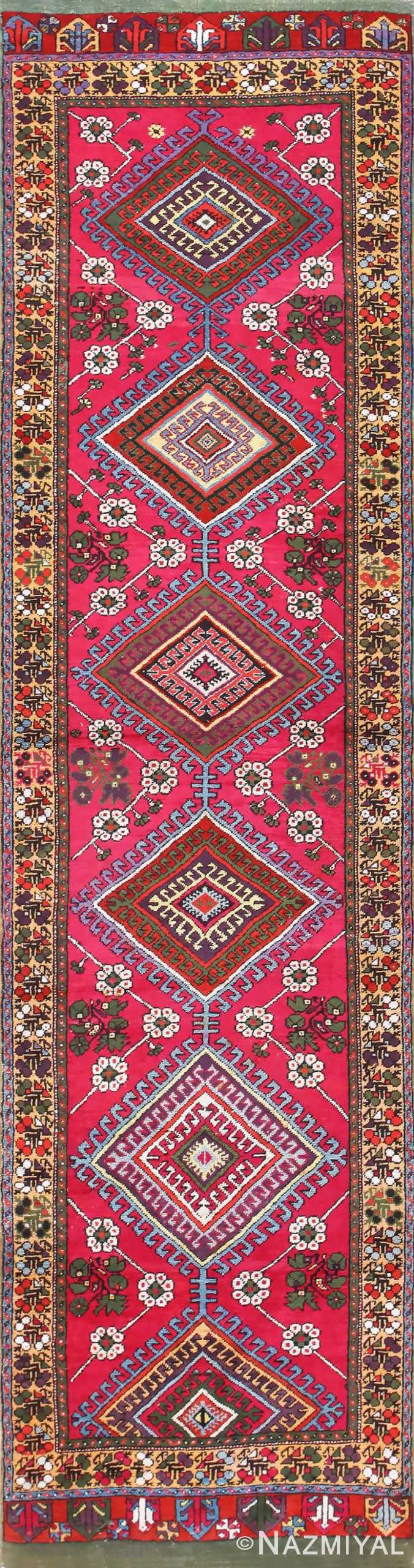 Tribal Antique Turkish Kirshehir Runner Rug 48883 Nazmiyal