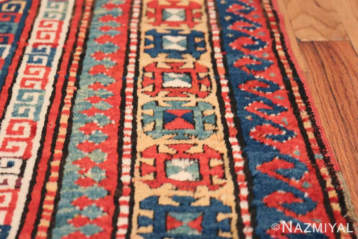Tribal Gallery Size Runner Antique Caucasian Kazak Rug 48934 Border Design Nazmiyal